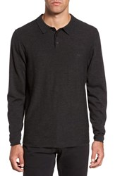 Rodd And Gunn Crater Lake Pique Wool Polo Charcoal