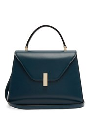 Valextra Iside Medium Leather Bag Blue