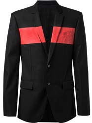 Givenchy Striped Chest Blazer Black