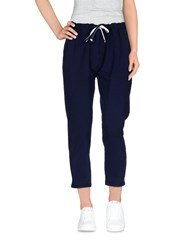 Tanomu Ask Me Trousers Casual Trousers Women Dark Blue
