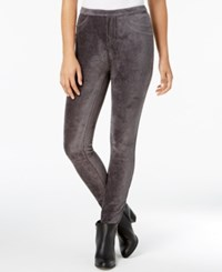 Style And Co Corduroy Leggings Created For Macy's Carbon Grey