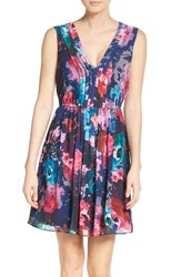 Betsey Johnson Women's Pleated Fit And Flare Dress