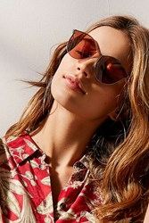 Urban Outfitters Ellie Round Sunglasses Rose