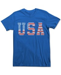 Fifth Sun Men's Usa Flag T Shirt Royal