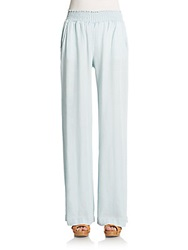 Splendid Smocked Waist Wide Leg Pants Polar