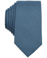 Bar Iii Carnaby Collection Solid Knit Skinny Tie Aqua