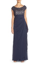 Xscape Evenings Women's Xscape Metallic Lace And Jersey Gown