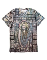Eleven Paris T Shirt With Kate Moss Print Multi