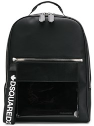 Dsquared2 Logo Strap Backpack Black