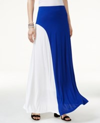 Inc International Concepts Colorblocked Maxi Skirt Only At Macy's Goddess Blue