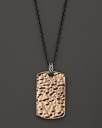 John Hardy Men's Palu Dog Tag Pendant Necklace With Naga Accent 24