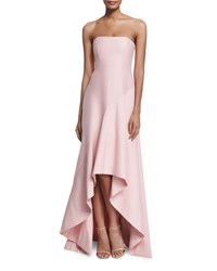 Halston Heritage Strapless Structured High Low Gown Lotus