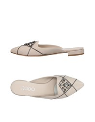 Rodo Mules Light Grey