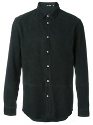 Blk Dnm Suede Shirt Black