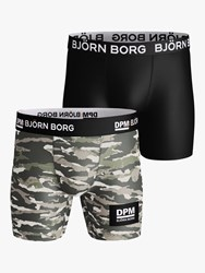 Bjorn Borg Block Performance Trunks Pack Of 2 Tigerstripe Murale Jungle