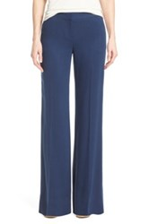 Halogen Flat Front Wide Leg Pants Blue