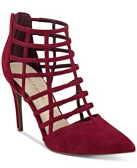 Marc Fisher Naples Caged Pumps Women's Shoes Ruby