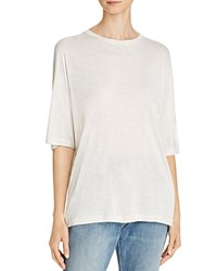 Vince Dolman Sleeve Tee Heather White