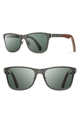 Men's Shwood 'Canby' 54Mm Polarized Titanium And Wood Sunglasses Gunmetal Walnut