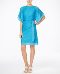 Styleandco. Style And Co. Circle Lace Kimono Sleeve Blouson Dress Only At Macy's Cool Turquoise