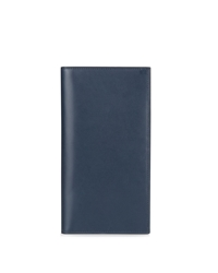 Aquascutum London Leather Breast Pocket Wallet Blue