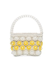 Shrimps Shelly Beaded Tote Bag White