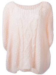 Mes Demoiselles 'Flow' Cable Knit Sweater Pink And Purple