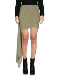 Rick Owens Mini Skirts Military Green