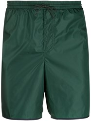 Gucci Logo Stripe Swim Shorts Green