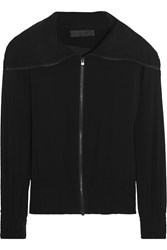 Donna Karan Draped Chiffon Jacket Black