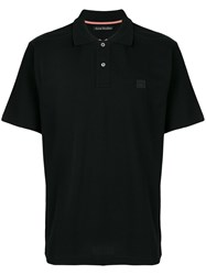 Acne Studios Newark Face Polo Shirt Black