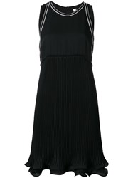 3.1 Phillip Lim Embroidered Ruffle Hem Dress Black