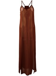Ilaria Nistri 'Ruggine' Dress Brown