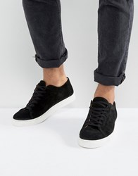 Selected Homme David Suede Trainers Black