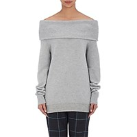 Alexander Wang T By Women's Off The Shoulder Sweater Grey