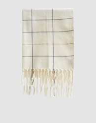 Minna Grid Towel In Cream