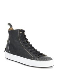 Android Alfa Textured High Tops Black