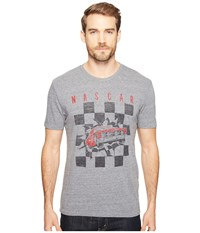 Lucky Brand Checker Burst Graphic Tee Grey Men's Clothing Gray