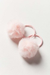 Urban Outfitters Pompom Ponytail Holder Pink