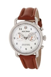 Jack Spade Men's Norton 2 Eye Chronograph Watch Brown