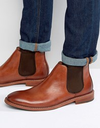 Dune Mencia Leather Chelsea Boots Tan