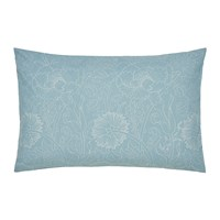 Morris And Co Pink Rose Pillowcase Pair Teal