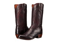 Lucchese Clint Black Cherry Cowboy Boots Burgundy
