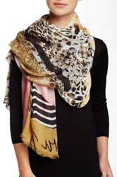Italca Playing With Prints Scarf Pink