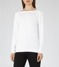 Reiss Clarry Womens Wrap Back Jumper In White