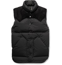 Rocky Mountain Featherbed Christy Suede Trimmed Shell Down Gilet Black