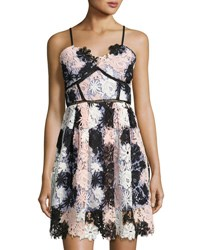 Star Crossed Lovers Tricolor Lace A Line Dress Pink Pattern