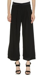 Donna Karan Cropped Wide Pants Black