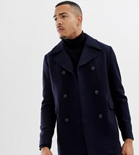 Selected Homme Recycled Wool Peacoat Dark Navy Twill