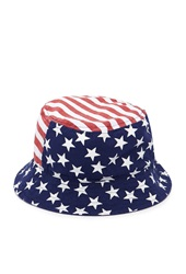Forever 21 American Flag Bucket Hat Red White
